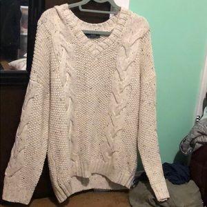 White chunky sweater
